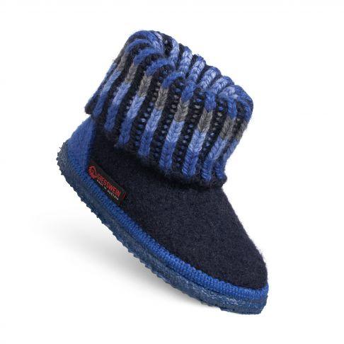 Papuci de casa Kronau, din lana, unisex, bleumarin 25