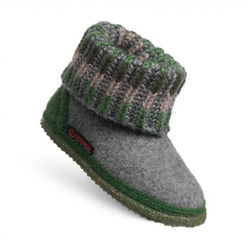 Papuci de casa Kronau din lana, unisex, gri 24