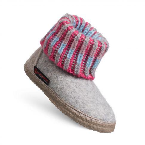 Papuci de casa Kronau. din lana, unisex, gri deschis 27
