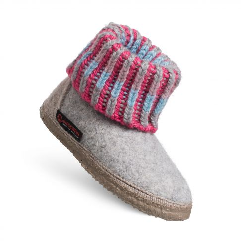 Papuci de casa Kronau. din lana, unisex, gri deschis 28