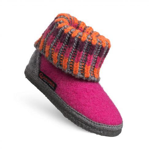 Papuci de casa Kronau, din lana, unisex, roz 23