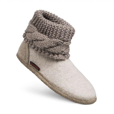 Papuci de casa model Karlsdorf, de dama, din lana 37