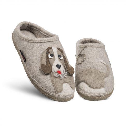 Papuci de casa model Nobitz, lana merino 38