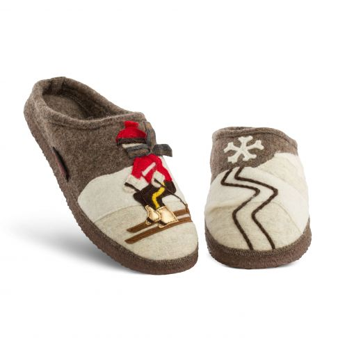 Papuci de casa din lana, model Tannenhof, 45