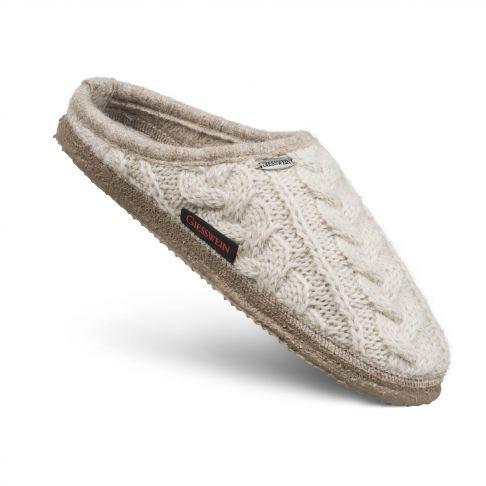 Papuci de casa Neudau, din lana, bej 40