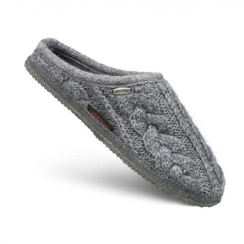 Papuci de casa Neudau, din lana, gri 40