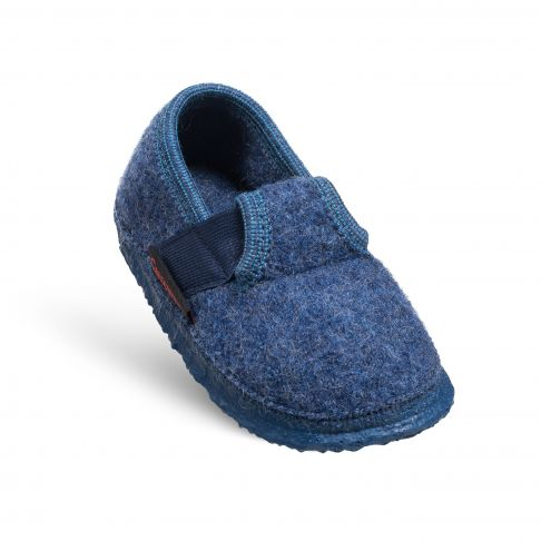 Papuci de casa Turnberg, din lana, unisex, jeans 27