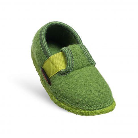 Papuci de casa Turnberg, din lana, unisex, verde 29
