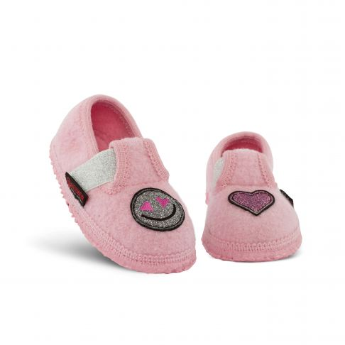 Papuci de casa Tutzing, din lana, model fetite, roz 24