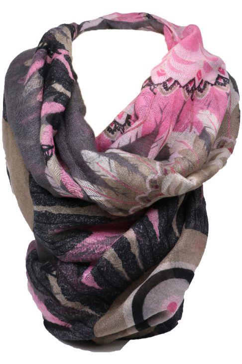Esarfa pentru dama, cu print color