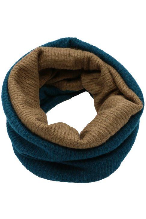 Fular circular din bumbac cu 2 culori