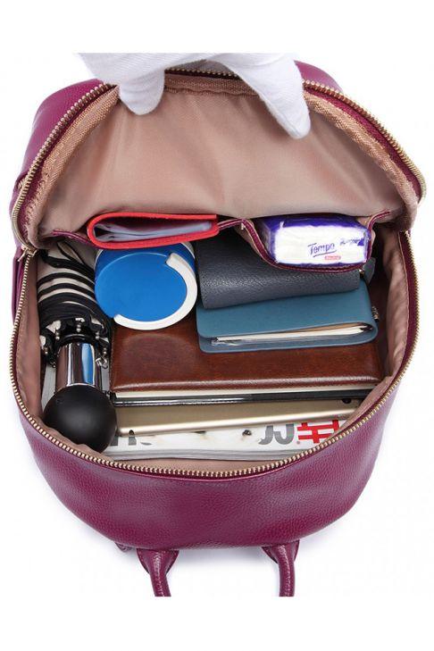 Rucsac pentru femei, din piele ecologica, de universitate, scoala, birou, mov LF6606 PE
