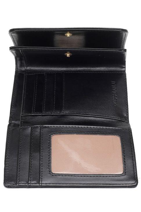 Portofel extensibil, pentru dama,din piele ecologica, lac , negru LP1688