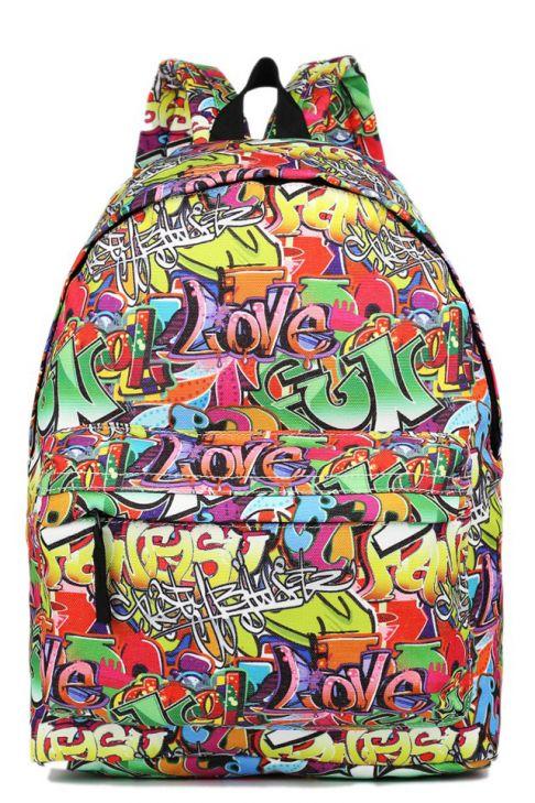 Rucsac pentru copii, scoala, universitate, zi de zi, graffiti.