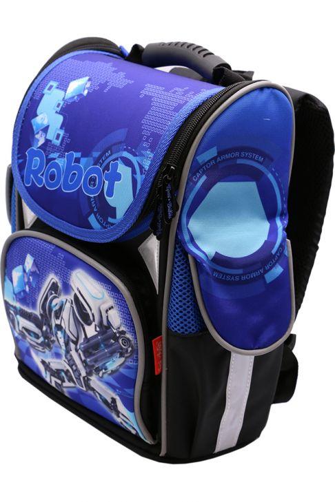 Ghiozdan scoala BROTHERS, rucsac pentru baieti, ergonomic, cu pereti rigizi, robot  Z-6-2