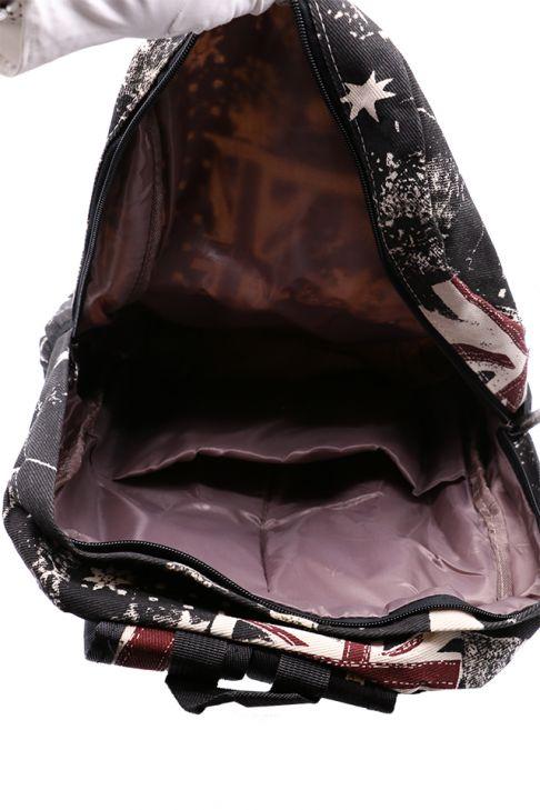 Rucsac din material textil unisex Z-51-1 Negru + Rosu