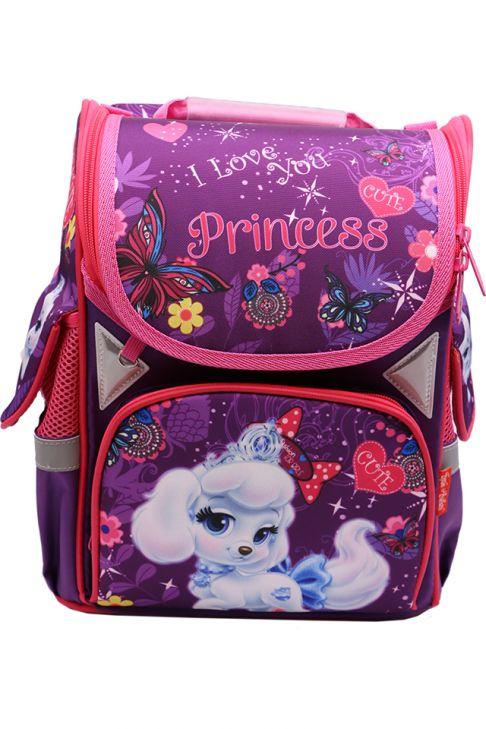 Ghiozdan scoala BROTHERS, rucsac pentru copii, fete, ergonomic, cu pereti rigizi, Princesse Z-7-1