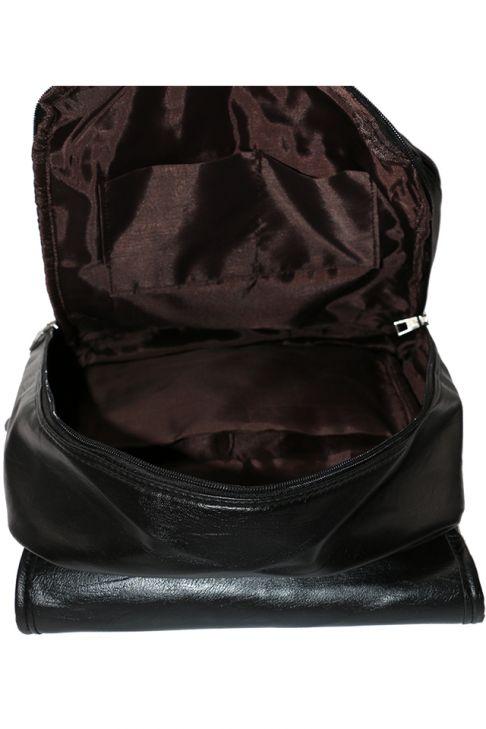 Rucsac din piele ecologica cu buzunar universal Z-76-1 Negru