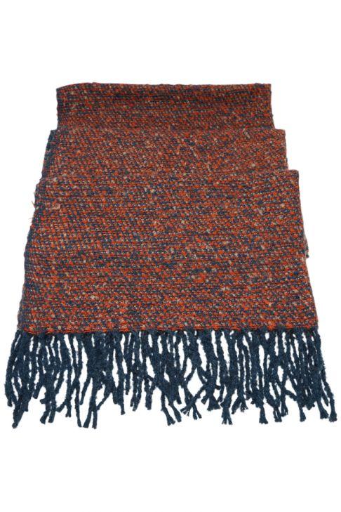Fular sau sal pentru femei, cu franjuri, supradimensionat, din poliester, toamna iarna, 2 culori, rosu albastru ZS-21-4