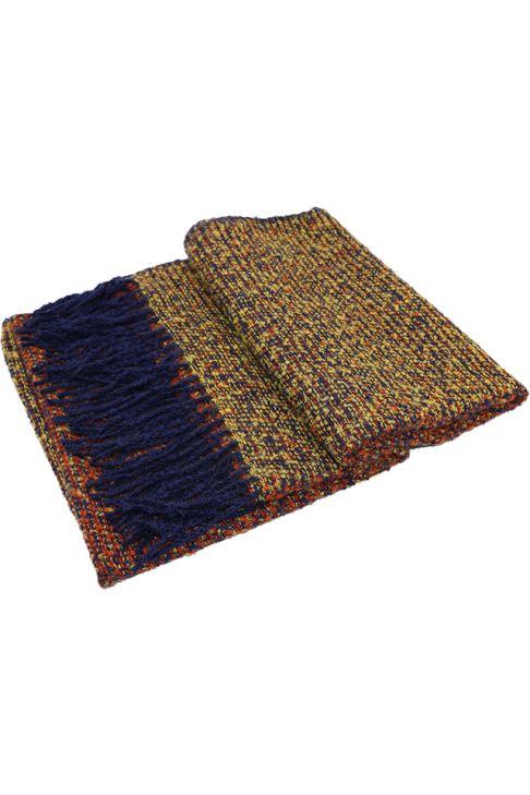 Fular sau sal pentru femei, cu franjuri, supradimensionat, din poliester, toamna iarna, 2 culori, albastru galben ZS-21-2