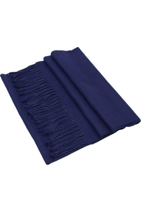 Fular pentru barbati, din casmir, subtire, sezon toamna primavara, cu franjuri, albastru . ZS14-4