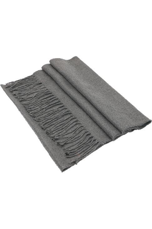 Fular pentru barbati, din casmir, subtire, sezon toamna primavara, cu franjuri, gri inchis . ZS14-6