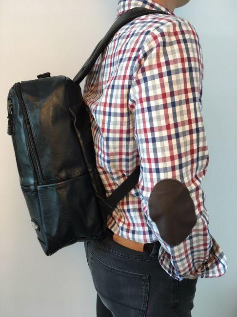 Rucsac laptop din piele ecologica universal Z-57 Negru