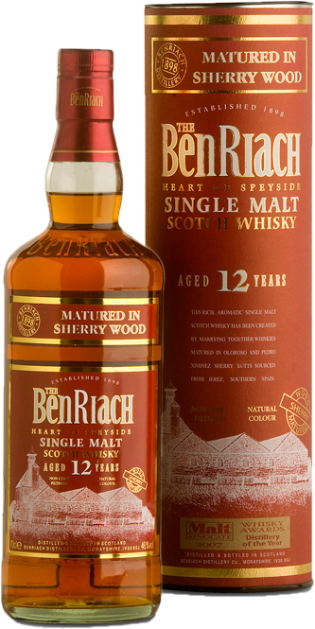 BENRIACH 12 YO SHERRY MATURED – 70cl
