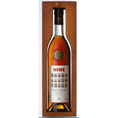 COGNAC HINE FAMILY RESERVE GRANDE CHAMPAGNE WOODEN BOX - 70cl