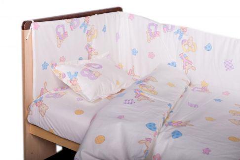 Garnitură de pat completă Amoraș 7 piese / Baby love mov