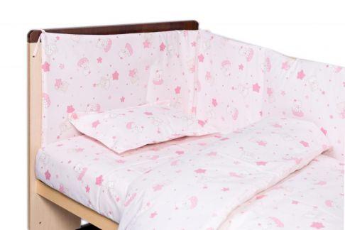 Garnitură de pat completă Amoraș 7 piese / Pisicuțe roz