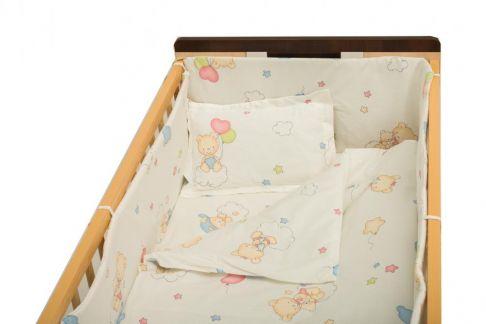 Garnitură de pat completă Amoraș 7 piese / Ursuleți cu balonașe alb