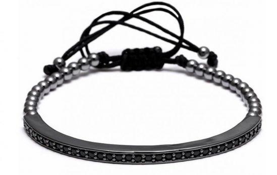 All Black Brooks Men CZ Bracelet