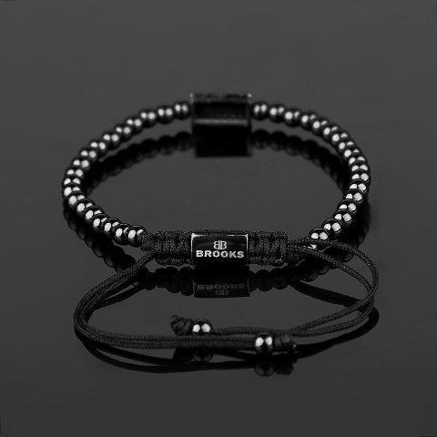 Brooks All Black Men Zircon Bracelet