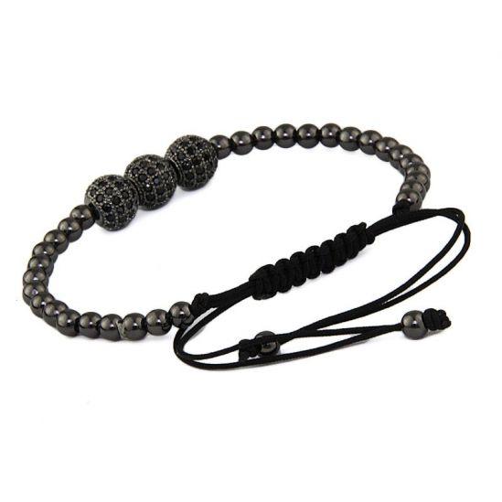 Brooks Spherique Black Zircon Bracelet