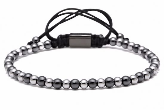 Brook Men BlackSilver Beads