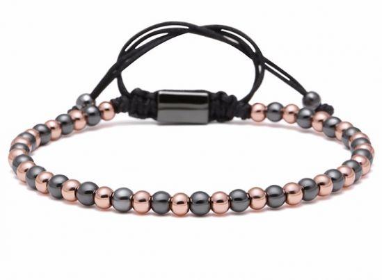 Brooks Bead Gold&Black Bracelet