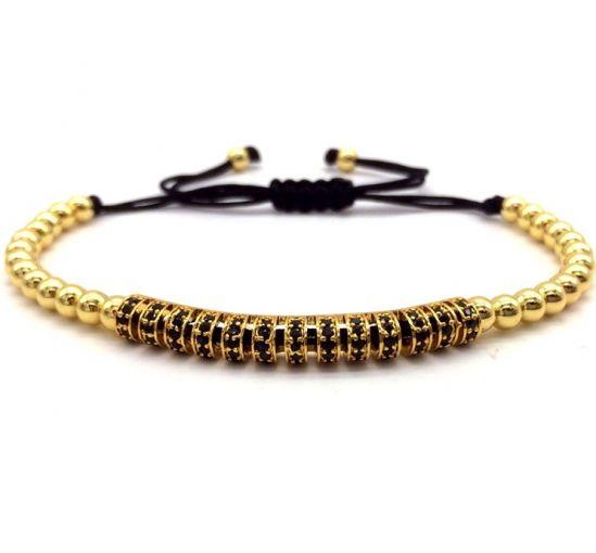 Brooks Gold 14K Men CZ Bracelet