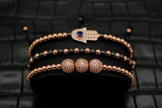 Brooks Set 3 Rose Gold Woman Bracelets