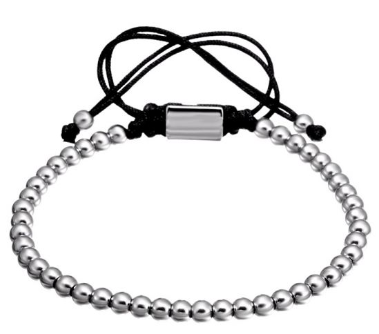 Brooks Silver Bead Bracelet
