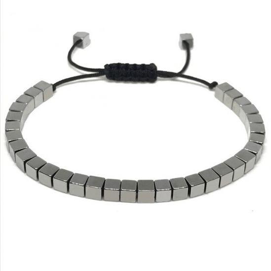 Brooks Cubic Stone Black Bracelet