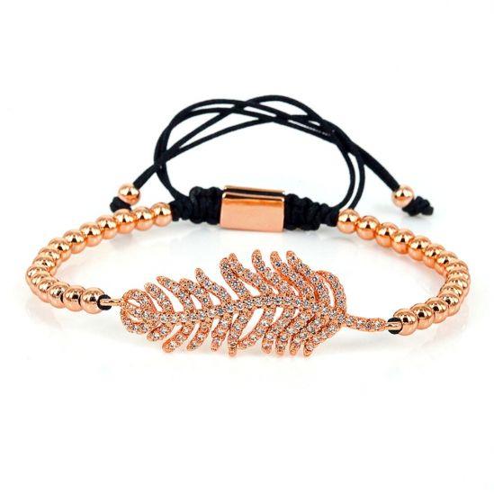 Brooks Leaf Rose Gold Women Bracelet