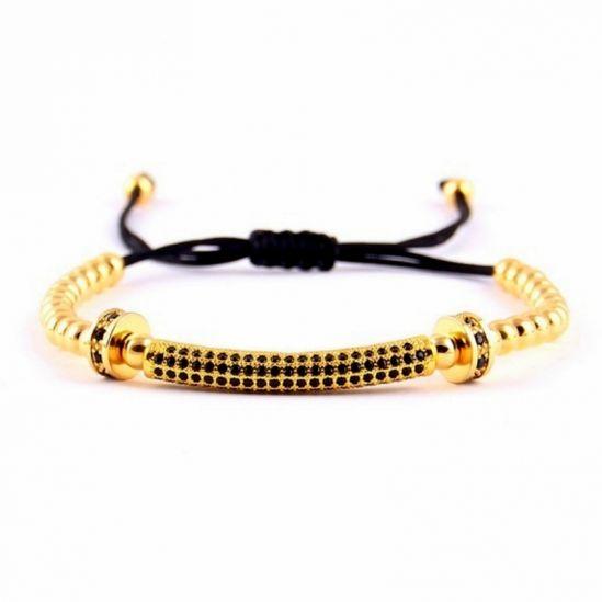 Gold 14K Zircon Men Bracelet