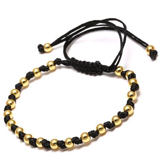 Gold Brooks Macrame Woman Bracelet