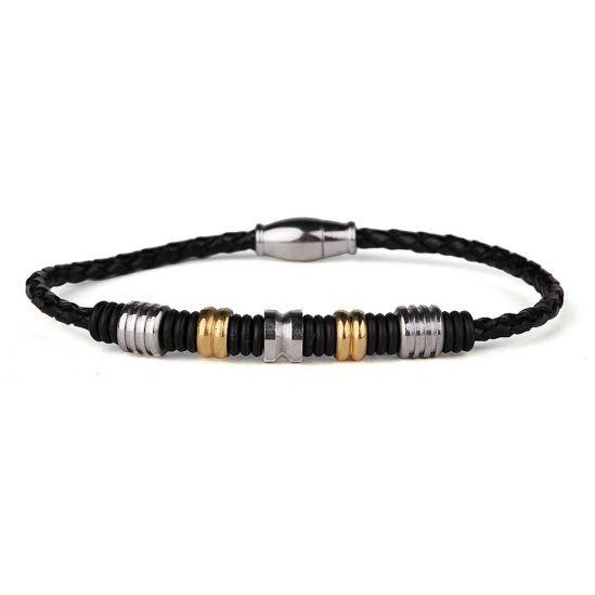 Exquisite Men Leather Bracelet