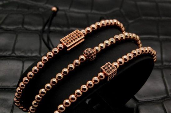 Luxury Set 3 Brooks Rose Gold Bracelets
