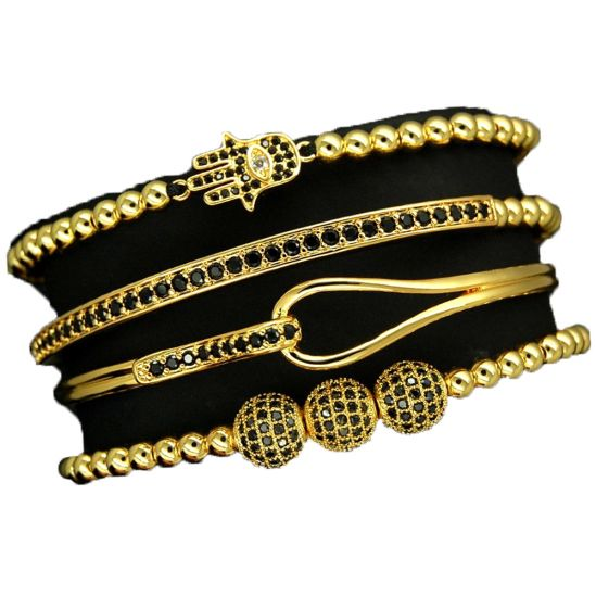 Luxury Set 4 Brooks Gold 14K Bracelets