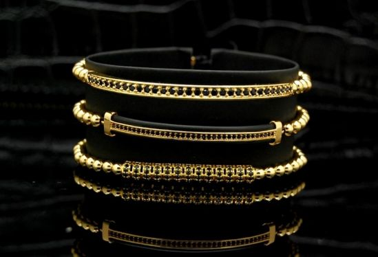 Luxury Set 3 Gold 14K Brooks Bracelets