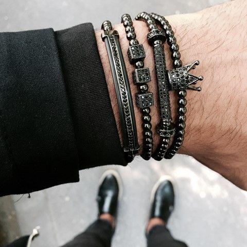 Luxury Set All Black 4 Brooks Bracelets