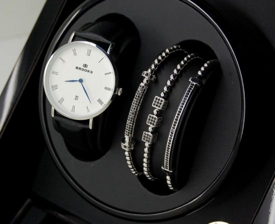 Luxury Set Silver Watch&Brooks Bracelets
